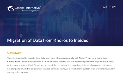 Migration of Data from Khoros to InSided